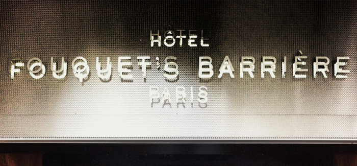 INTOhotels: Fouquet's Barriere/Paris