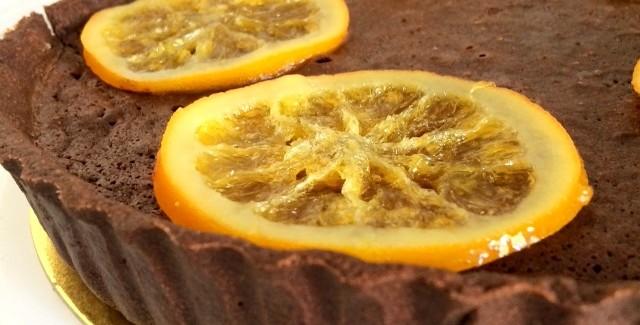 Francuska tarta czekoladowo-pomarańczowa