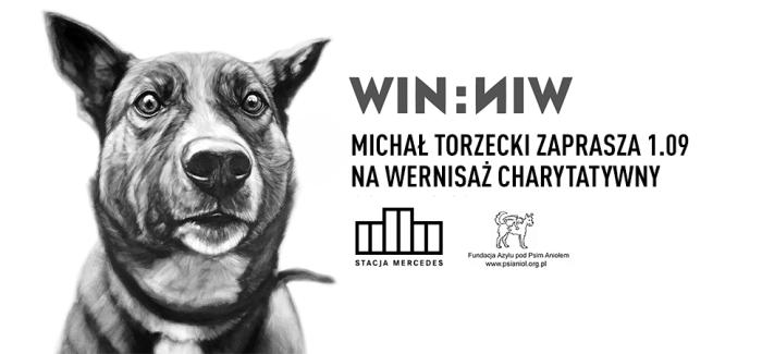 WIN:WIN – Charytatywny wernisaż prac Michała Torzeckiego w Stacji Mercedes