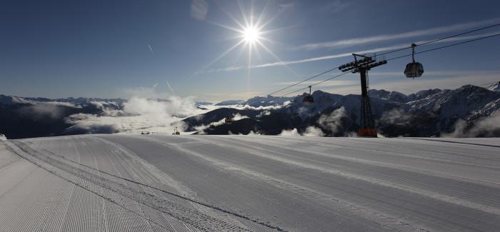 Południowy Tyrol o świcie i po zmroku