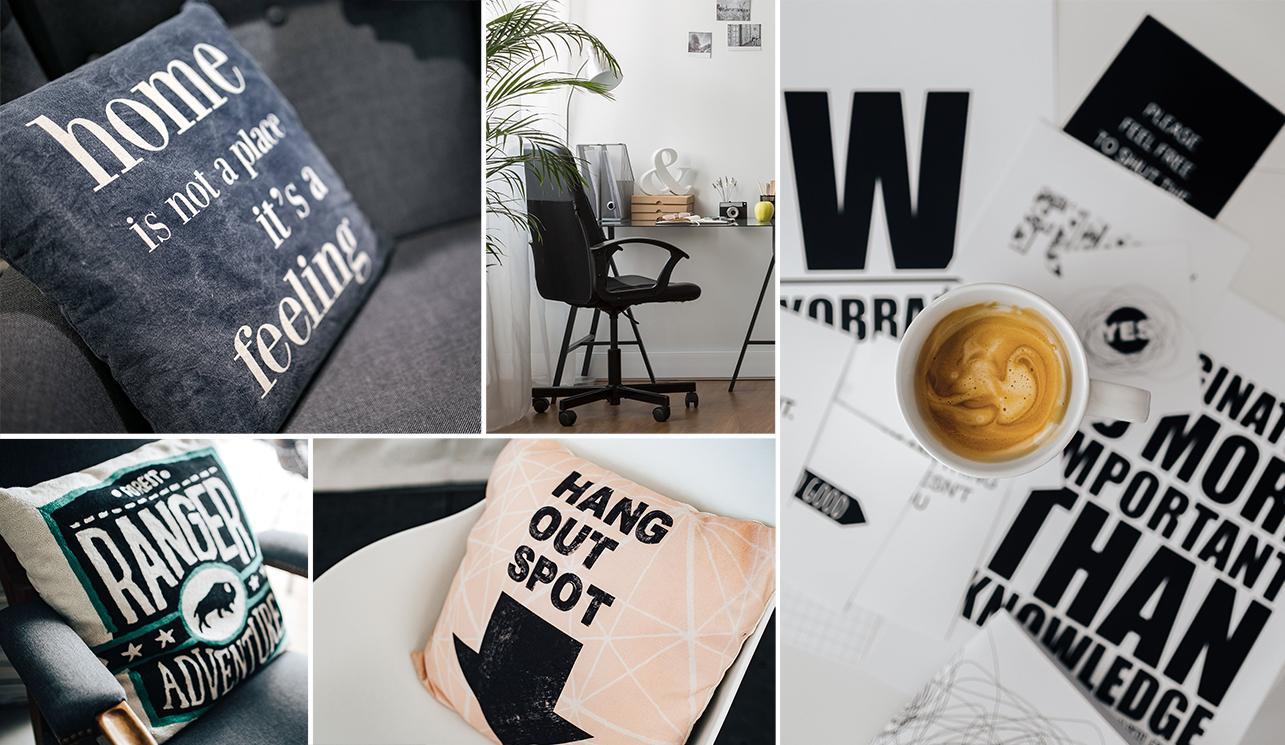 kolaz typografia