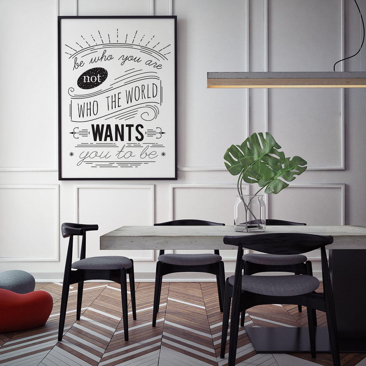 typografia plakat jadalnia