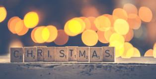 Canva - Christmas Scrabbles Bokeh Photography