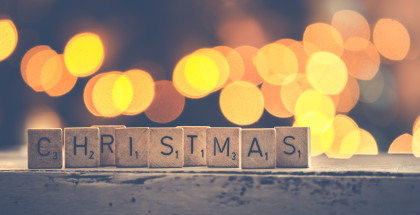 Canva - Christmas Scrabbles Bokeh Photography