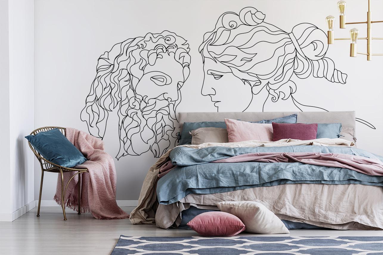 fototapeta grecka sypialnia