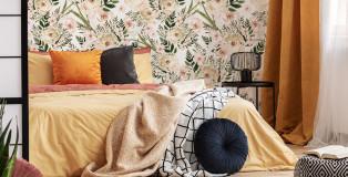 fototapeta kwiaty sypialnia