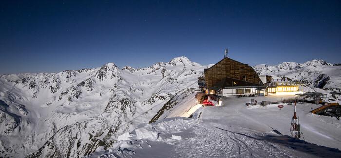 Magiczna zima w dolinie Val Senales we Włoszech